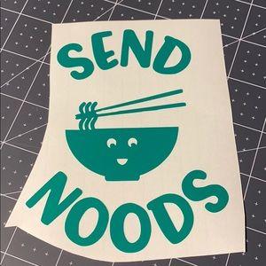 4/$15 Send Noods Vinyl Decal